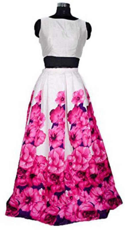 Nirvan Fashion Digital Print Lehenga Choli(Pink)