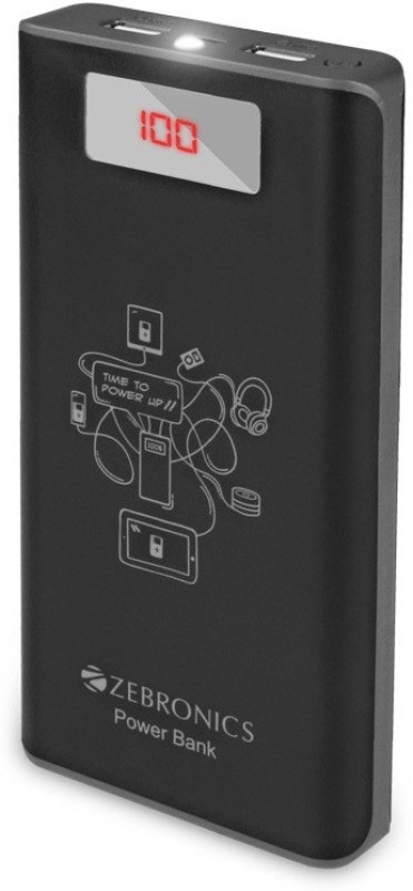 Zebronics 20000 Power Bank (ZEB-PG20000D, Mobile Battery Charger)(Black, Lithium-ion)