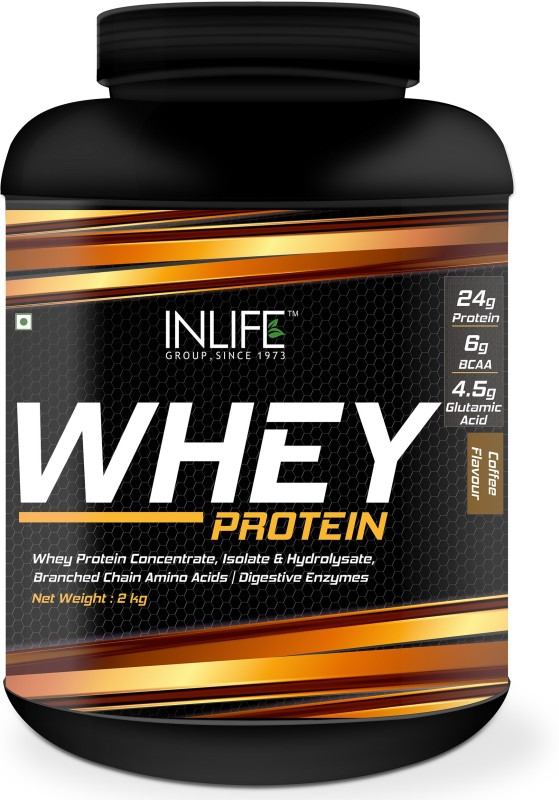 Inlife 5Lb Whey Protein(2.27 kg, Coffee)