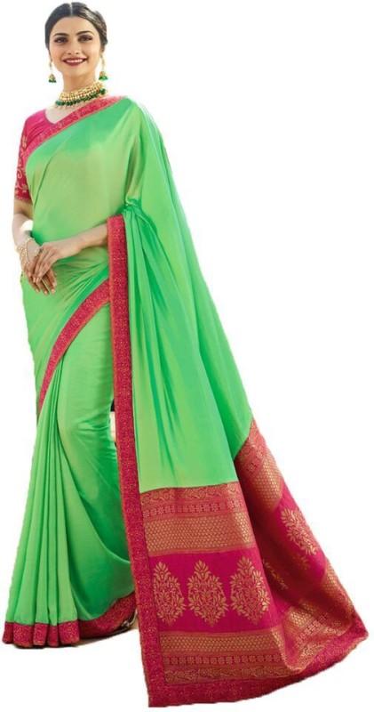 Glamory Saree Self Design Fashion Silk Saree(Green)