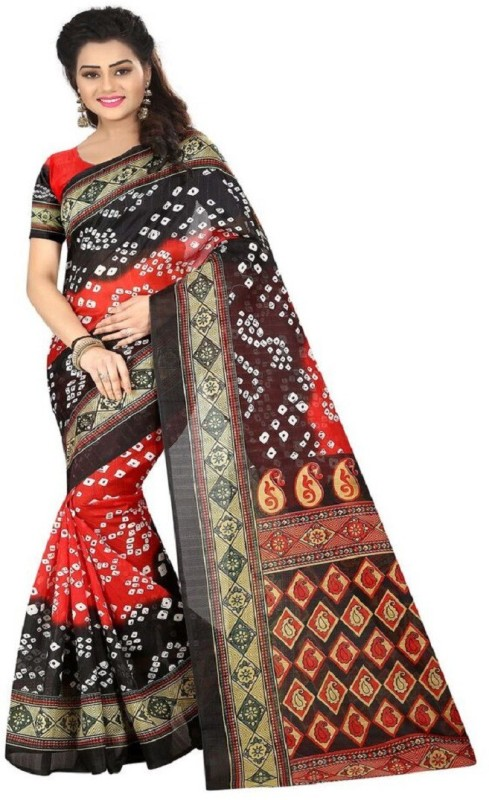 Shree Ram Creation Printed Bollywood Art Silk Saree(Red)