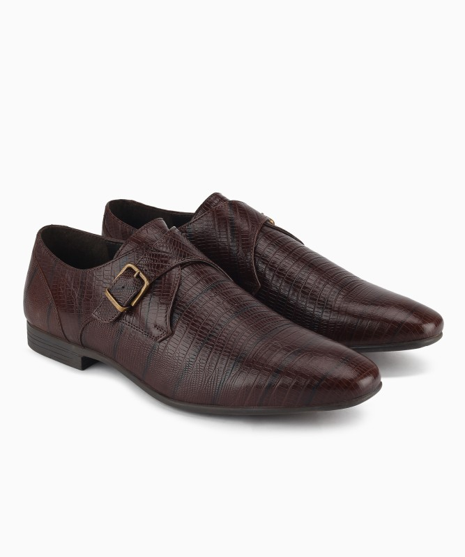 Hush Puppies Monk Strap For Men(Brown)
