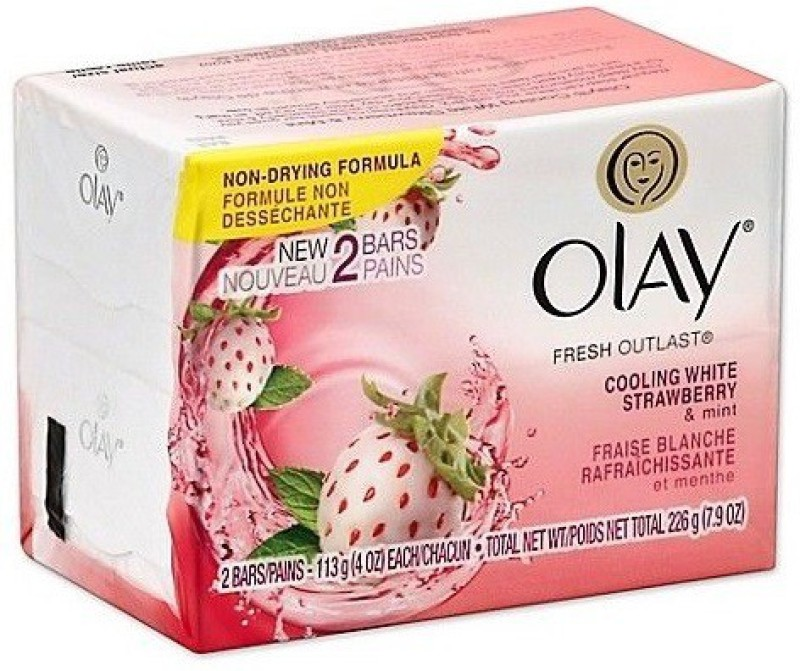 Olay Cooling White Strawberry & MInt Soap(113 g, Pack of 2)