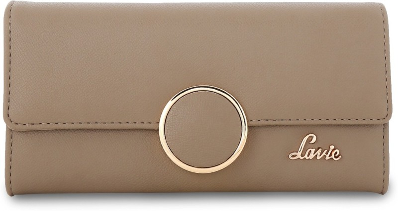 Lavie Women Casual Grey Artificial Leather Wallet(8 Card Slots)