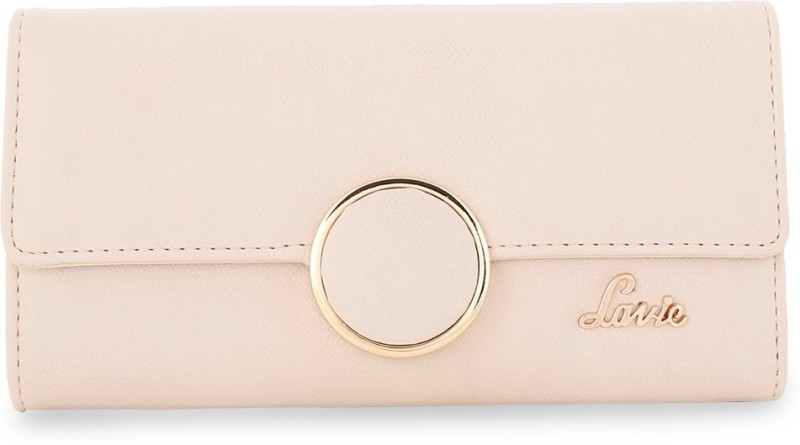 Lavie Women Casual Beige Artificial Leather Wallet(8 Card Slots)