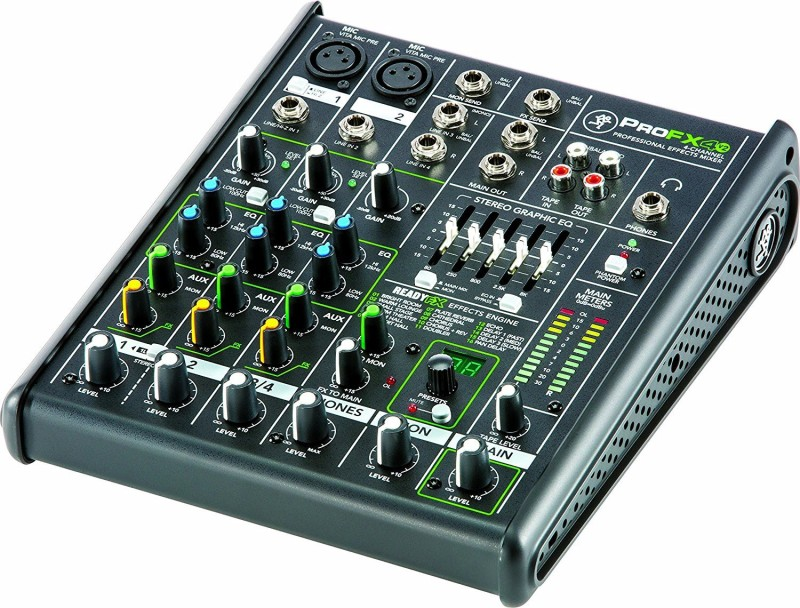 Mackie PROFX4V2 4-Channel Compact Mixer with Effects Wired DJ Controller
