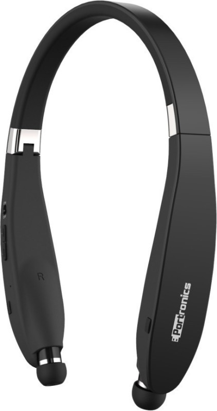 Portronics POR-927 Harmonics 200 Wireless Stereo Bluetooth Headset with Mic(Black, In the Ear)