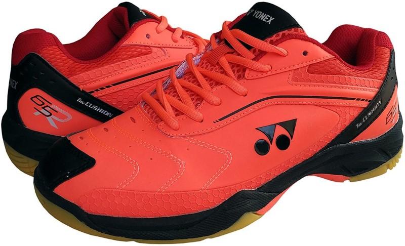 Yonex SRCR 65R Badminton Shoes 7 Badminton Shoes For Men(Black, Red)