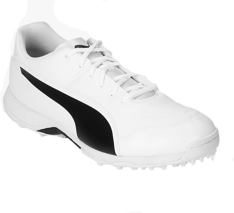 Puma Evo Speed one8 R White Cricket Shoes For Men(White, Black)