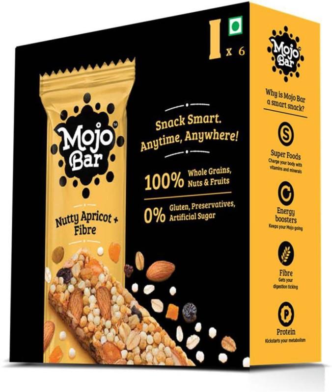 MojoBar Mojo Bar - Nutty Apricot + Fibre - Pack of 6(6 x 35 g)