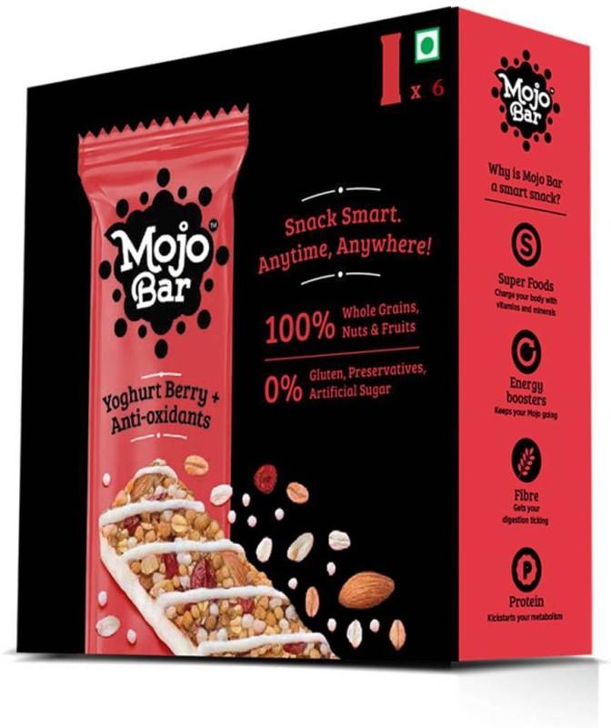 MojoBar Mojo Bar - Yoghurt Berry + Anti - Oxidants - Pack of 6(6 x 35 g)