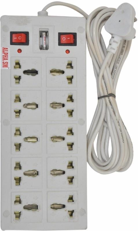 ALPHA.SM 10 SOCKET SURGE PROTECTOR(WHITE) 10 Socket Surge Protector(White)
