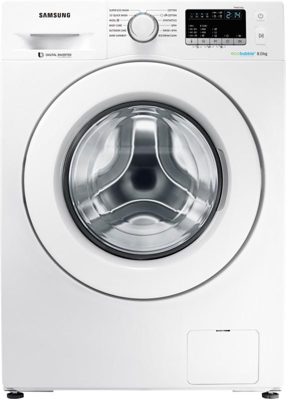 Samsung 8 kg Fully Automatic Front Load Washing Machine White(WW80J4243MW/TL)