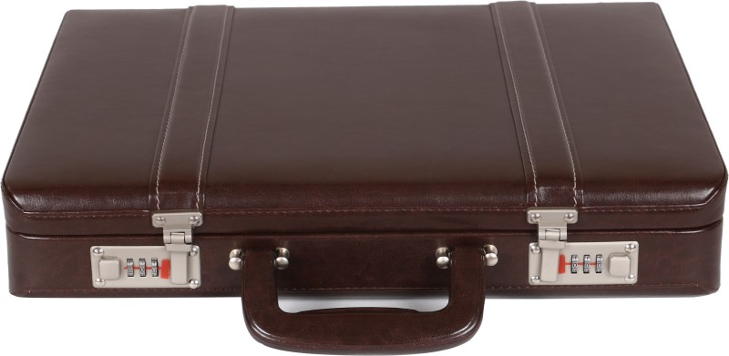 OBANI Faux Leather Briefcase Medium Briefcase - For Men(Brown)