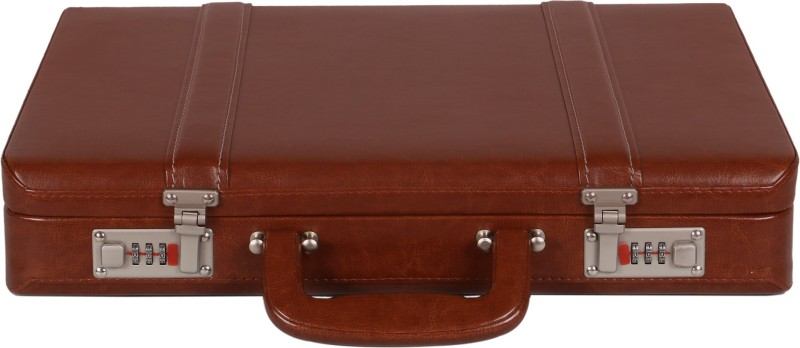 OBANI Faux Leather Briefcase Medium Briefcase - For Men(Tan)