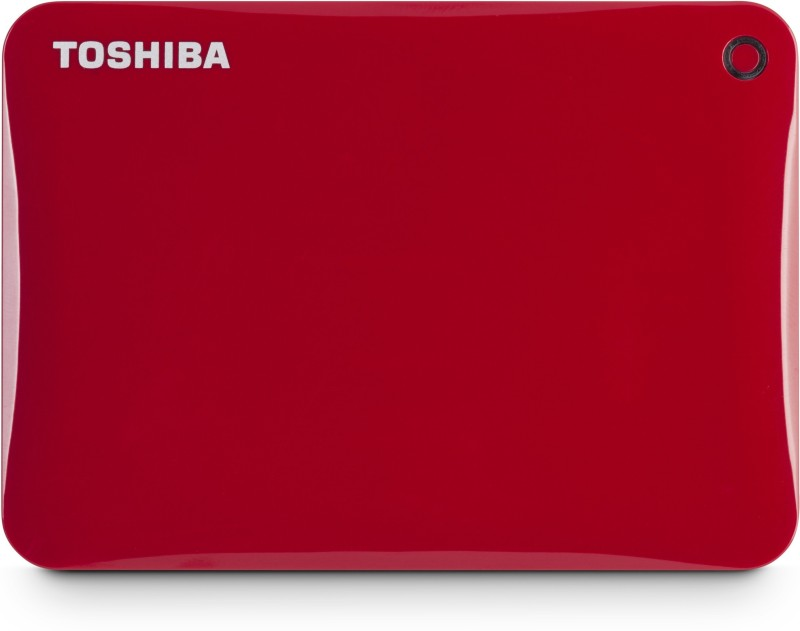 Toshiba Canvio Connect II, USB 3.0 2 TB Wired External Hard Disk Drive(Red)