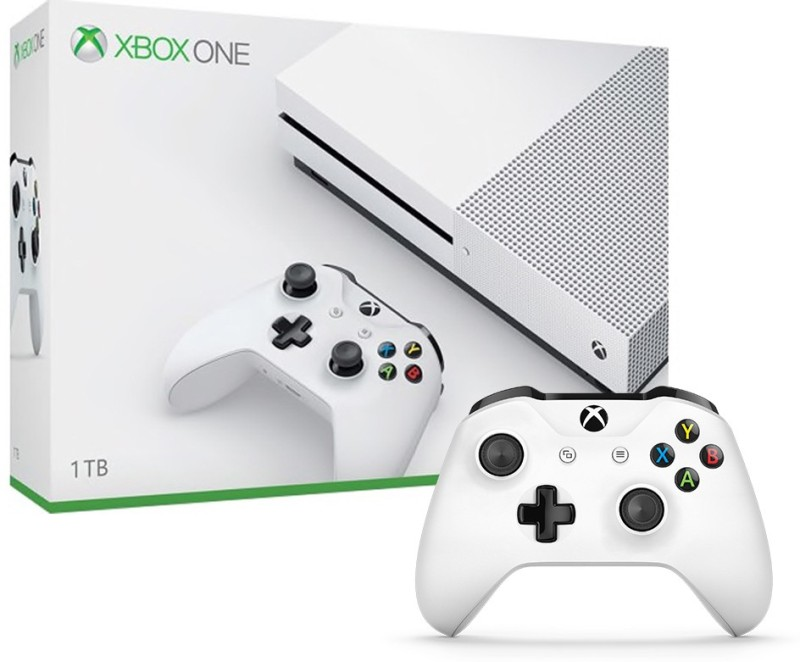 Microsoft Xbox One S 1 TB(White, Additional Xbox One Controller)