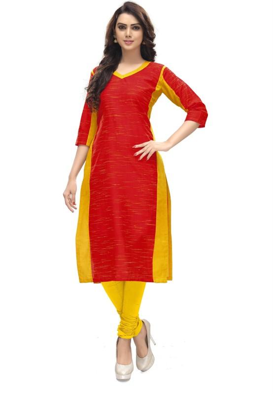 Venisa Casual Printed Women's Kurti(Red)