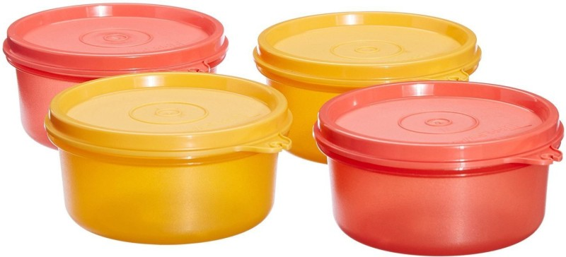 Tupperware Tropical Twins Round 4 Containers Lunch Box(250 ml)