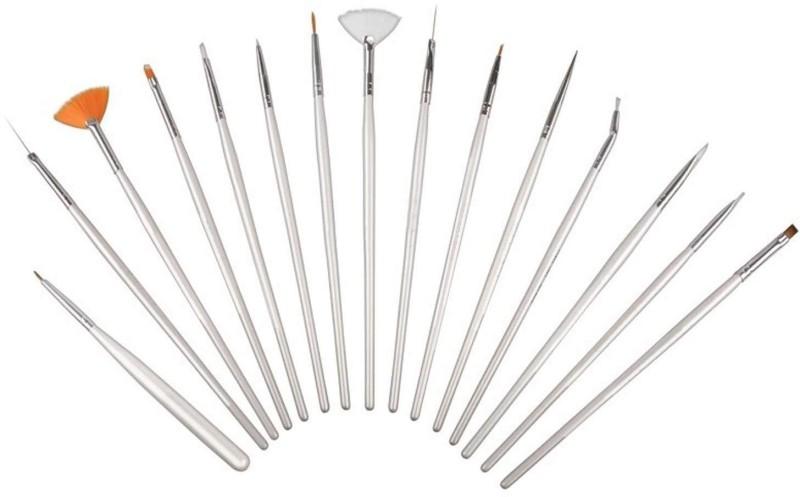 SYGA 15pcs Acrylic Nail Art Design Painting Tool Pen Polish White Nail Brush Set