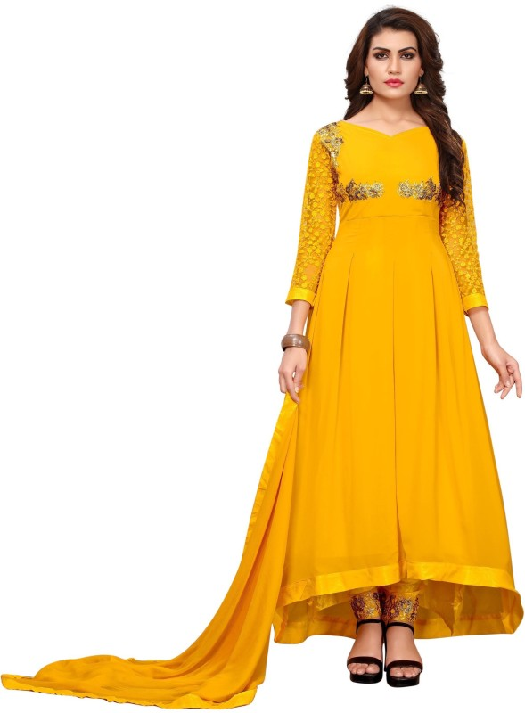Ross And Rack Embroidered Kurti & Salwar(Stitched)