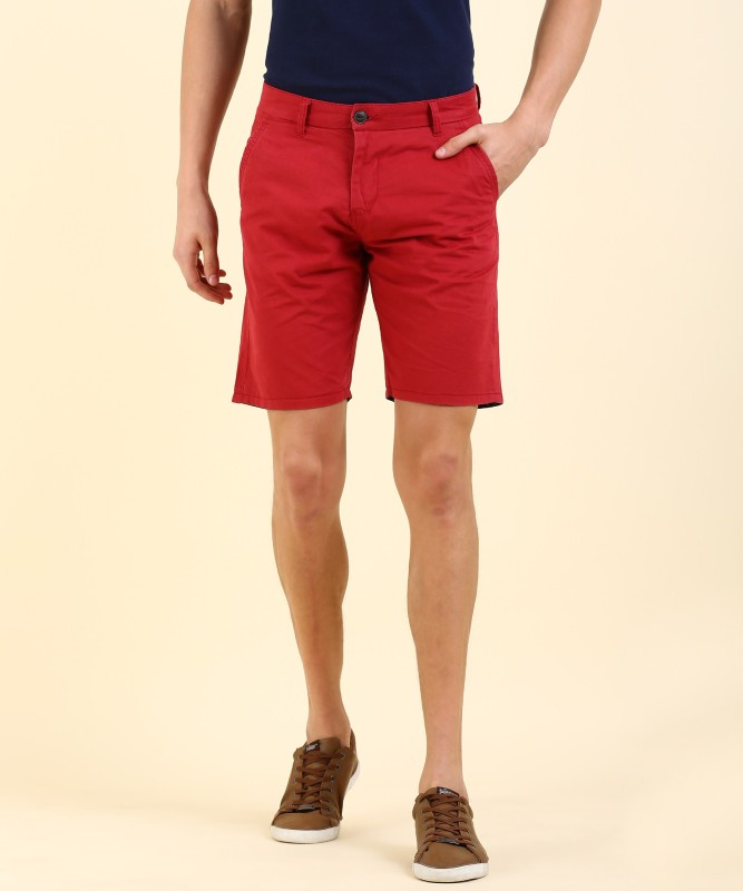 Pepe Jeans Solid Men's Red Chino Shorts