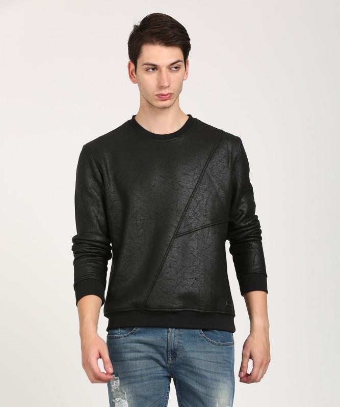 WROGN Full Sleeve Self Design Mens Sweatshirt