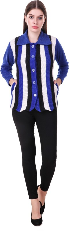 KRITIKA WORLD Womens Button Solid Cardigan