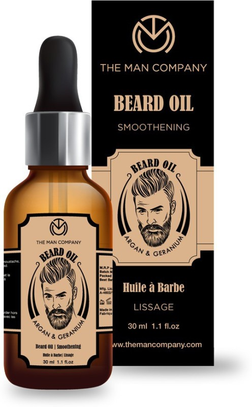 The Man Company Beard Oil-Argan & Geranium Hair Oil(30 ml)