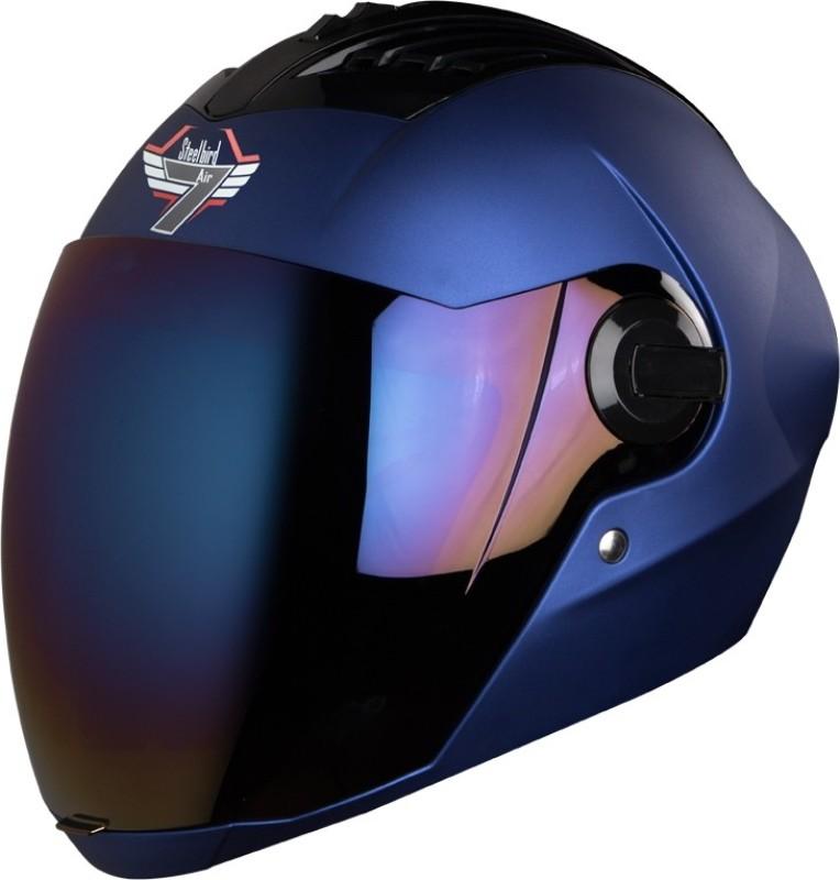Steelbird AIR SBA-2 7Wings Painted Motorbike Helmet(Blue)