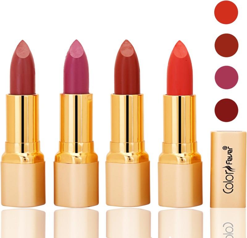 Color Fever lipstick with Vitamin E, Enriched soft(Mauve, plum, dry orange, orange, 16 g)