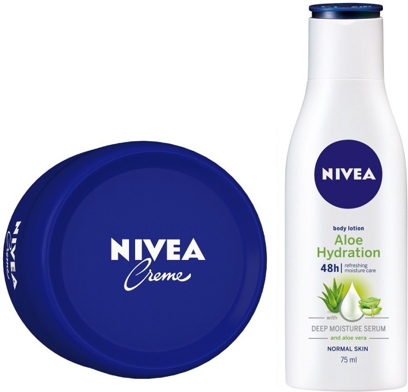 Nivea Crme 200ml with Aloe Hydration Body Lotion, 75ml(275 ml)