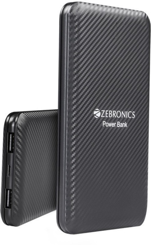 Zebronics 10000 Power Bank (PB10000, Mobile External Battery)(Black, Lithium-ion)
