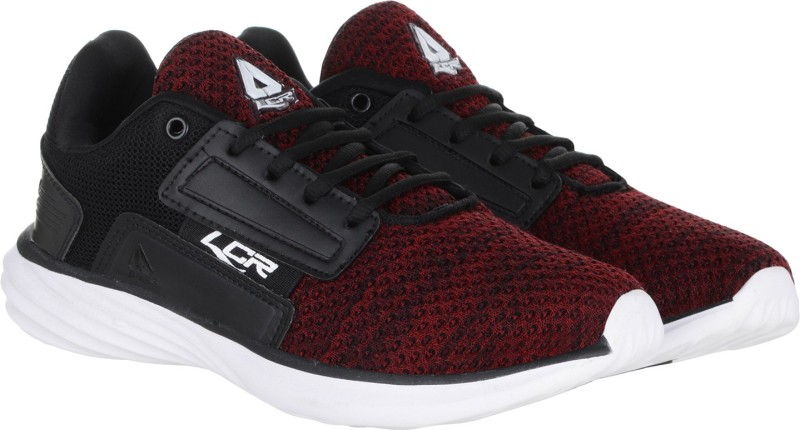 Lancer Running Shoes For Men(Black, Maroon)