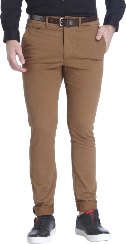 Jack & Jones Slim Fit Men Brown Trousers
