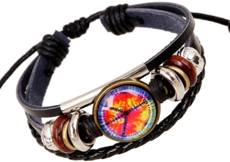 fashion for sure Leather Bracelet(Pack of 3)
