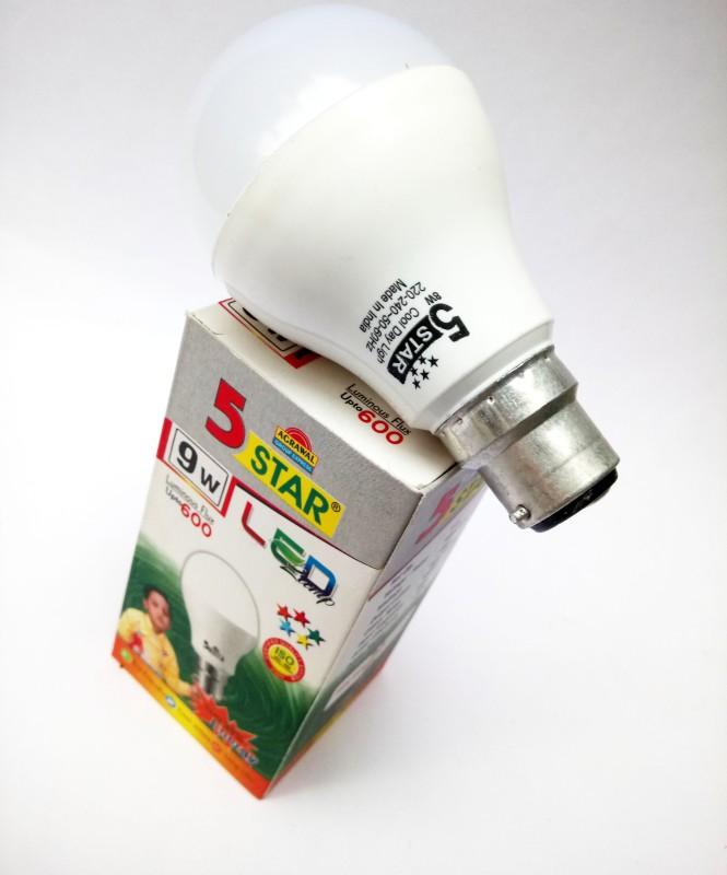5 Star 9 W T-Bulb B22 LED Bulb(White)
