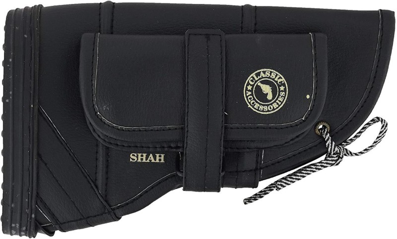 SHAH Leather .315 Bore Gun Butt Cover Racquet Carry Case/Cover Free Size(Black)