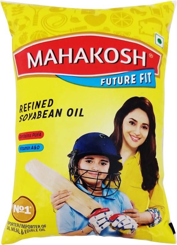 Mahakosh Refined Soyabean Oil Pouch(1 L)