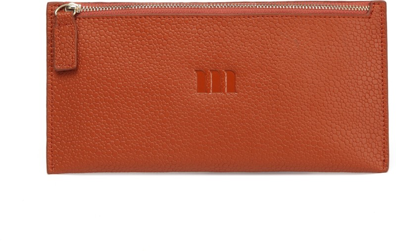 Merlot Spots Genuine Leather Purse Brown Cosmetic Bag(Brown)