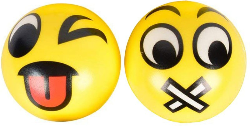 Miss & Chief Cute Emoticon Balls - TONGUE OUT & MUTED SMILEY...