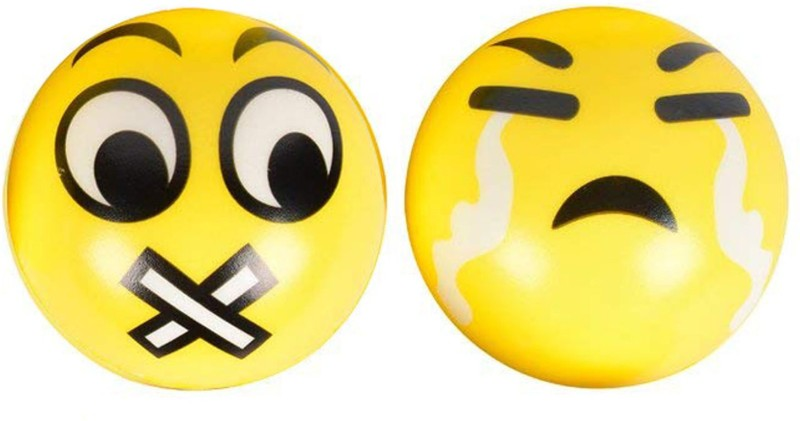 Miss & Chief Cute Emoticon Balls - MUTED & CRYING SMILEY Set...