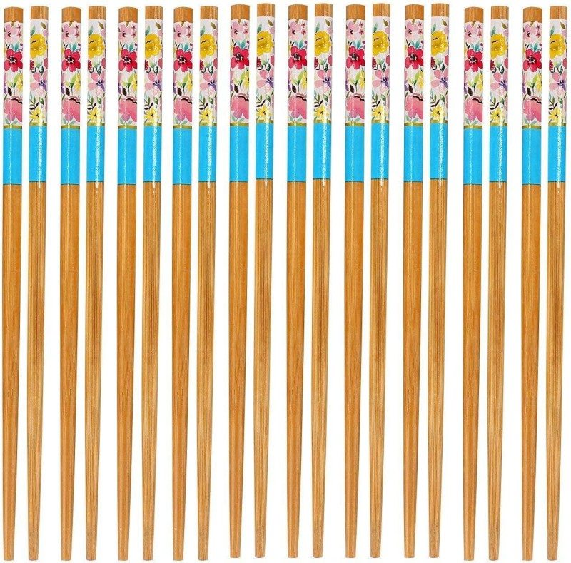HOKIPO Eating Bamboo Chinese Chopstick(Brown Pack of 20)