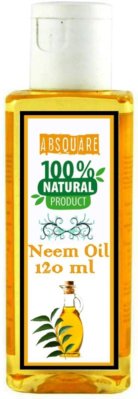 absquare Neem Oil for Skin Care, Hair Care and Natural Bug Repellent 120ml ( Natural Neem Oil 120 ml ) Hair Oil(120 ml)