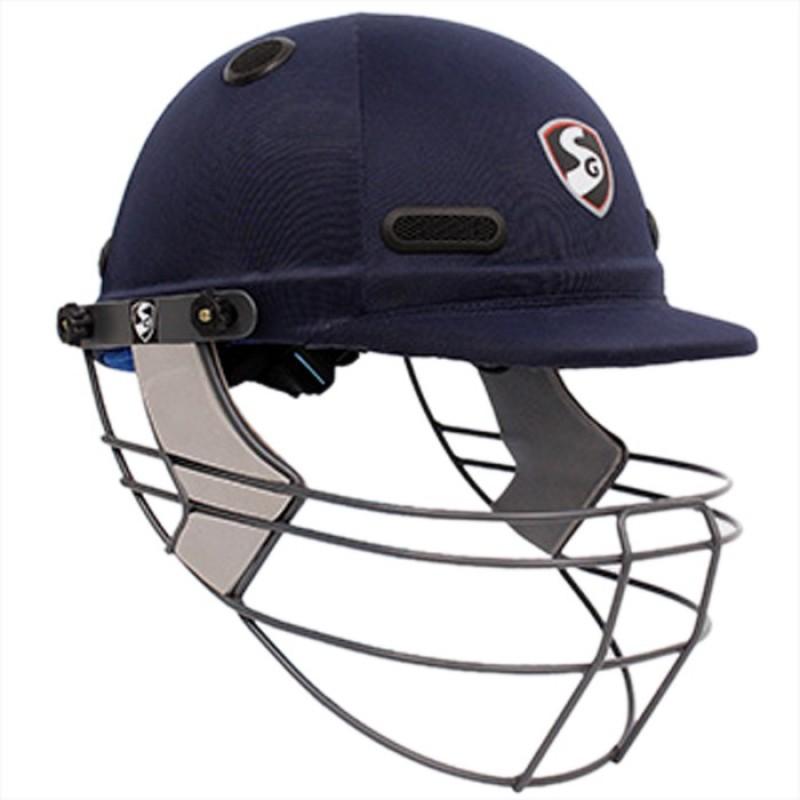 SG h Professional Cricket Helmet, Medium Cricket Helmet(Blue)