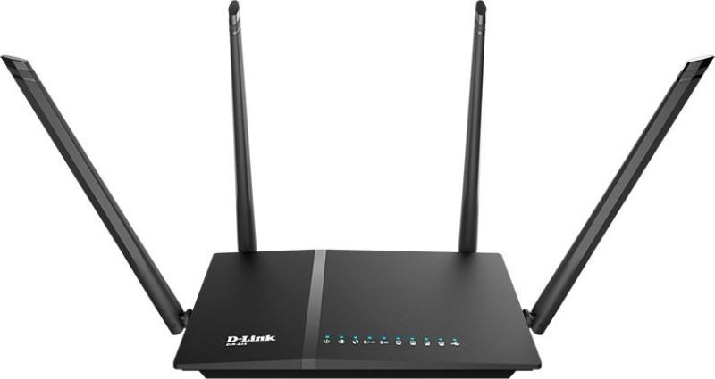 D-Link DIR-825 AC1200 Wi-Fi Gigabit 1200 Mbps Router(Black, Dual Band)