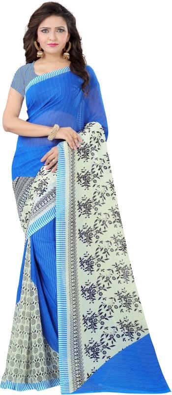 Vimalnath Synthetics Printed Fashion Georgette Saree(Blue)
