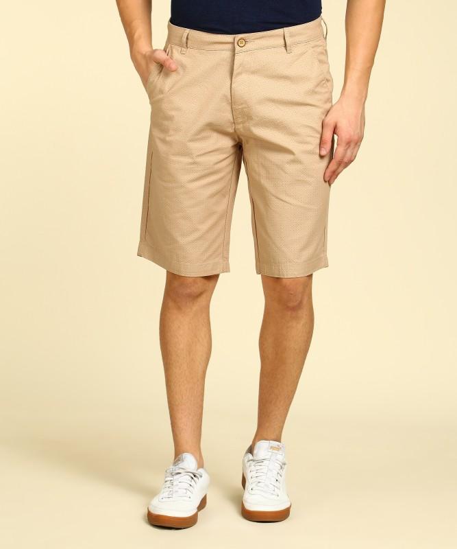 Peter England Printed Men Beige Chino Shorts