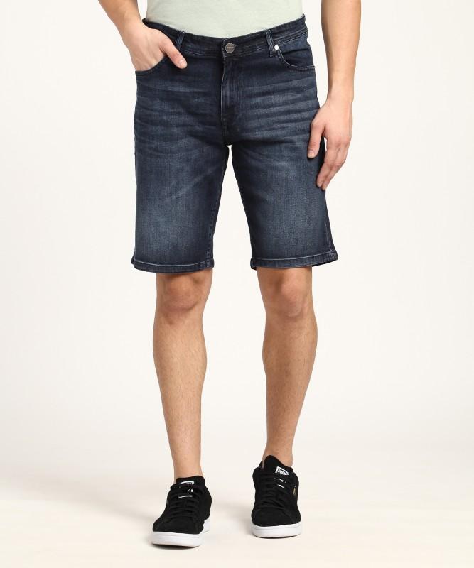 Lee Cooper Solid Mens Denim Blue Denim Shorts