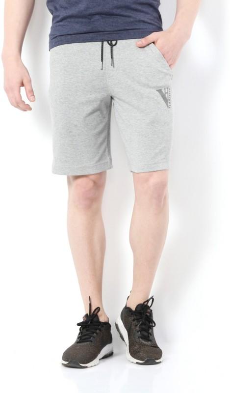 Van Heusen Solid Men Grey Regular Shorts